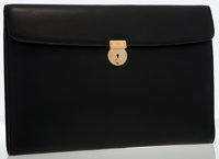 Gucci Black Leather Document Holder