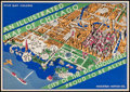 """Movie Posters:Crime, An Illustrated Map of Chicago (Houghton Mifflin Co, 1930s). Poster(9.5"""" X 13.5""""). Crime.. ..."""
