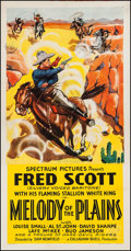 "Movie Posters:Western, Melody of the Plains (Spectrum, 1937). Three Sheet (41.5"" X 80""). Western.. ..."