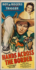 """Movie Posters:Western, Hands Across the Border (Republic, 1944). Three Sheet (41"""" X 80"""").Western.. ..."""