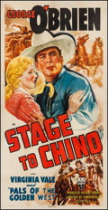"""Movie Posters:Western, Stage to Chino (RKO, 1940). Three Sheet (40.75"""" X 80""""). Western.. ..."""