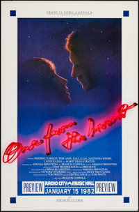 "One from the Heart & Others Lot (Zoetrope, 1982). Premiere Poster (25.75"" X 39""), Poster (40"" X 60&qu..."
