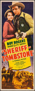 "Movie Posters:Western, Sheriff of Tombstone (Republic, 1941). Insert (14"" X 36""). Western.. ..."