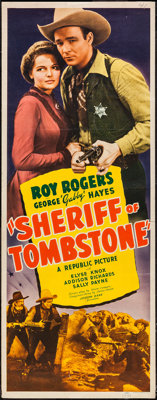 "Sheriff of Tombstone (Republic, 1941). Insert (14"" X 36""). Western"