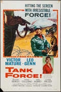 "Movie Posters:War, Tank Force & Others Lot (Columbia, 1958). One Sheets (4) (27"" X41"") & Trimmed One Sheet (27.5"" X 41.5"") Review Style. War....(Total: 5 Items)"