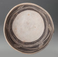 American Indian Art:Pottery, A KAYENTA BLACK-ON-WHITE BOWL. c. 1200 AD...