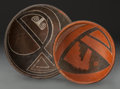 American Indian Art:Pottery, TWO FOUR MILE POLYCHROME BOWLS. c. 1300 - 1400 AD... (Total: 2Items)