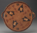 American Indian Art:Baskets, A NORTHWEST COAST IMBRICATED TRAY. c. 1900...