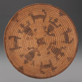 American Indian Art:Baskets, A PIMA/PAPAGO PICTORIAL COILED TRAY...