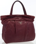 Luxury Accessories:Bags, Prada Raspberry Leather Tote Bag . ...