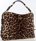 Luxury Accessories:Bags, Prada Leopard Ponyhair Hobo Bag. ...