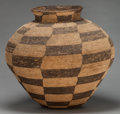 American Indian Art:Baskets, AN APACHE COILED STORAGE JAR. c. 1900...