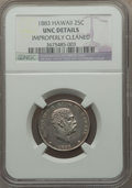 Coins of Hawaii: , 1883 25C Hawaii Quarter -- Improperly Cleaned -- NGC Details. Unc.NGC Census: (6/904). PCGS Population (7/1164). Mintage: ...