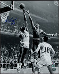 Basketball Collectibles:Photos, Bill Russell Signed Oversized Photograph, PSA Gem Mint 10....