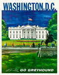"""Movie Posters:Miscellaneous, Greyhound Bus Travel Poster (1960s). Small Promotional Posters (6)(11"""" X 14"""").. ... (Total: 6 Items)"""