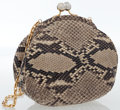 Luxury Accessories:Bags, Judith Leiber Natural Python Clutch Bag . ...