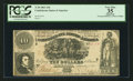Confederate Notes:1861 Issues, T30 $10 1861 PF-6 Cr. 242.. ...