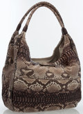 Luxury Accessories:Bags, Carlos Falchi Brown Python Hobo Bag . ...