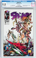 Modern Age (1980-Present):Superhero, Spawn #9 (Image, 1993) CGC NM/MT 9.8 White pages....