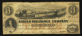 Obsoletes By State:Michigan, Adrian, MI- The Adrian Insurance Company $3 Dec. 13, 1853. ...