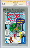 Modern Age (1980-Present):Superhero, Marvel Milestone Edition: Fantastic Four #5 Signature Series(Marvel, 1992) CGC NM 9.4 White pages....