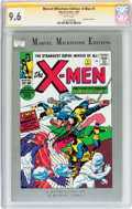 Modern Age (1980-Present):Superhero, Marvel Milestone Edition: X-Men #1 Signature Series (Marvel, 1991)CGC NM+ 9.6 White pages....