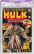 Silver Age (1956-1969):Superhero, The Incredible Hulk #1 (Marvel, 1962) CGC Apparent FN- 5.5 Slight (C-1) Off-white to white pages....
