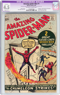 The Amazing Spider-Man #1 (Marvel, 1963) CGC Apparent VG+ 4.5 Slight (C-1) Off-white to white pages