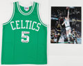 Basketball Collectibles:Uniforms, Bill Walton Signed Boston Celtics Jersey & OversizedPhotograph. ...