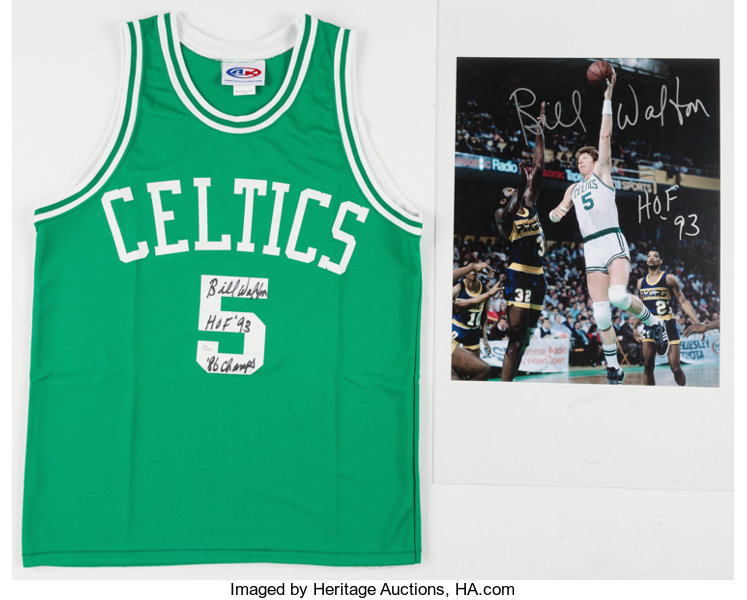 detailed look 3a6a5 b0a03 Bill Walton Signed Boston Celtics Jersey & | Lot #41107 ...