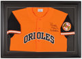 Autographs:Jerseys, 2000's Brooks Robinson Signed Replica Throwback Jersey Framed....