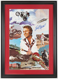 Autographs:Others, Circa 2000 Evil Knievel Signed Poster....