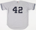 Autographs:Jerseys, 2000's Mariano Rivera Signed New York Yankees Road ReplicaJersey....