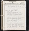 Explorers:Space Exploration, Apollo 11 Grumman Lunar Module Handwritten Construction and TestingLog Book. ...