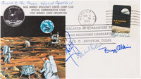 Apollo 11 Flown Crew-Signed Quarantine Cover, C-59, Originally from the Personal Collection of Mission Command Module Pi...