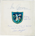 Explorers:Space Exploration, Apollo 10 Flown and Crew-Signed Beta Cloth Mission Insignia Originally from the Personal Collection of Mission Lunar Module Pi...