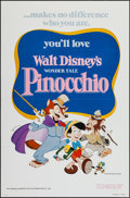"Movie Posters:Animation, Pinocchio (Buena Vista, R-1978). One Sheet (27"" X 41"") Flat Folded.Animation.. ..."