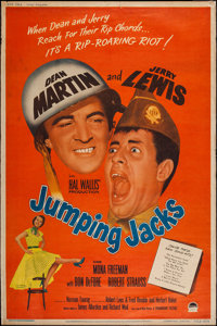 """Jumping Jacks (Paramount, 1952). Poster (40"""" X 60"""") Style Y. Comedy"""