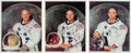 Autographs:Celebrities, Apollo 11 Crew: Matching Individually-Signed White Spacesuit ColorPhotos....