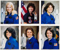 Autographs:Celebrities, Space Shuttle Female Astronauts: Collection of Six Signed ColorPhotos. ...