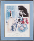 "Explorers:Space Exploration, Robert Rasmussen Signed Limited Edition ""Naval Aviation in Space""Print, Signed by Nine Astronauts, #903/1000...."