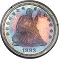 Proof Seated Quarters, 1883 25C PR65 PCGS. Gold CAC. Briggs 1-A....