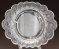 Art Glass:Lalique, LALIQUE CLEAR AND FROSTED GLASS AURIAC SERVING DISH. Post1945. Engraved Lalique, France. Ht. 12 in.. ...