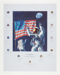 "Explorers:Space Exploration, Alan Bean Signed Limited Edition ""In the Beginning..."" Print,Signed by a Total of Twenty-Two Apollo Astronauts, #406/1000...."