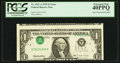 Error Notes:Inverted Third Printings, Fr. 1921-A $1 1995 Federal Reserve Note. PCGS Extremely Fine40PPQ.. ...