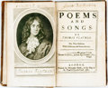 Books:Literature Pre-1900, Flatman, Thomas. Poems and Songs. The Third Edition WithAdditions ans Amendments. London: Benjamin Tooke, 1682....
