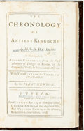 Books:World History, [Featured Lot] Newton, Isaac. Chronology of the Ancient KingdomsAmended. To which is Prefix'd A Short Chronicle f...