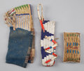 American Indian Art:Beadwork and Quillwork, THREE SIOUX MINIATURE BEADED HIDE ITEMS... (Total: 3 Items)