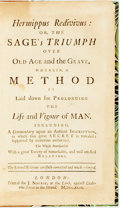 Books:Metaphysical & Occult, Cohausen, Johann Heinrich. Hermippus Redivivus: Or, the Sage's Triumph Over Old Age and the Grave. Wherein, A Meth...
