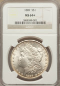 Morgan Dollars: , 1889 $1 MS64+ NGC. NGC Census: (15035/2268). PCGS Population (10642/2141). Mintage: 21,726,812. Numismedia Wsl. Price for p...